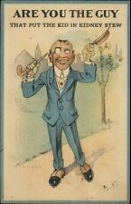 Vinegard Valentine? Are You the Guy - The Kid in Kidney Stew Postcard rpx