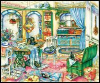 My Sewing Room - Chart Counted Cross Stitch Pattern Needlework Xstitch craft DIY
