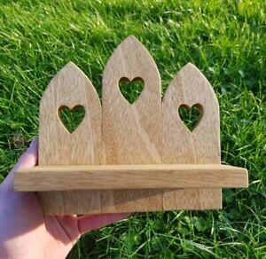 Wooden Wall Heart Sconce | Shelf Pillar Tealight Candle Holder Shelf Idigbo