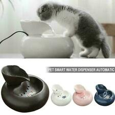 1* Auto Ceramic Pet Water Dispenser Circulating Fountain Pet Cat Dog Feeder