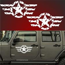 2 57cm US Army Sterne RETRO Sterne Auto Aufkleber Sterne USAF jeep USA Army F