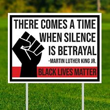 Black Lives Matter Yard Sign - 18�x24� - Double Sided - Protest Mlk Blm