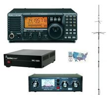 Icom IC-718 100W HF Radio w/ 23A PSU, MFJ Manual Tuner & Vertical HF Antenna