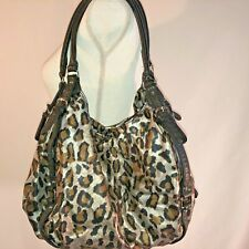 Animal Print Purse Bag Carry All Zip Closure Black and Silver Unbranded