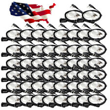 50Pcs 2-Pin Earpieces Headset for Retevis H777 Kenwood Baofeng 888S Radios US