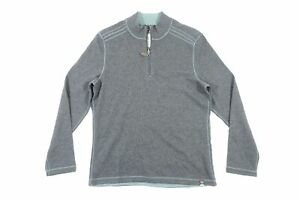 JACHS CM46-396-JM6 GRAY GREEN MEDIUM HALF ZIP MOCK NECK REVERSIBLE SWEATER NEW