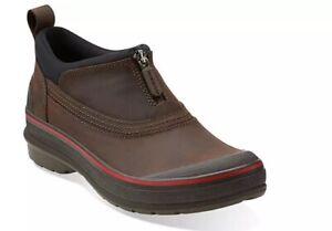 CLARKS Women's Muckers Ridge Water Proof Ankle Booties Brown Size 7.5 NEW