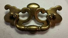 "Large vintage antique metal dresser drawer pull handle 3 1/2"" CTR TO CTR  (#20H)"