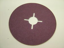 Pack of 10 Fibre sanding discs 115mm medium 80 grit, for angle grinders