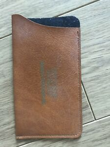 New Brown faux leather Glasses Pocket 70s 80s case Retro Spectacle Centre Wigan