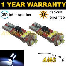 2x W5W T10 501 Canbus Nessun Errore BIANCHE 9 SMD LAMPADINE LED PER TARGA