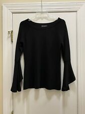 INC International Concept Black Bell Sleeve Sweater Size M