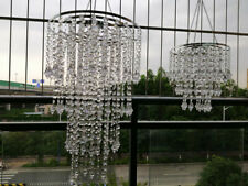 2Pcs Clear Acrylic Beaded Hanging Chandelier Wedding Centerpieces Decoration