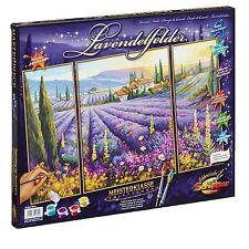 Lavendelfelder 609260604 Malen nach Zahlen Schipper 50x80cm Triptychon Lavendel