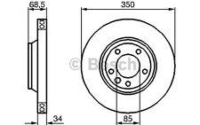 BOSCH Disco de freno (x1) 350mm ventilado VOLKSWAGEN TOUAREG BMW 0 986 479 251