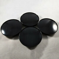 4PCS ABS Universal Black Car Wheel Center Hub Caps Covers Set No Emblem 68mm