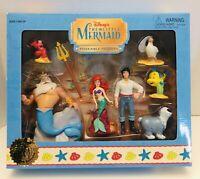 Disney Parks Exclusive 2003 The Little Mermaid 7PC Poseable Figures Set NIB