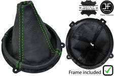 GREEN STITCH LEATHER GEAR BOOT + PLASTIC FRAME FITS HYUNDAI TIBURON COUPE 02-08