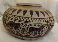 Huge Greek or Etruscan  Pot Raised Painted design with Animals