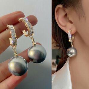 Fashion Pearl Crystal Ear Stud Earrings Drop Women Dangle Wedding Jewelry Gifts