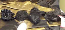 Mixed Lot of Various and unbranded Doll Wigs Black 8 - 9 and 10 - 11 sizes.