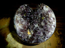 LARGE 3.5 INCH AMETHYST CRYSTAL CLUSTER SPHERE FROM BRAZIL WITH STAND!!
