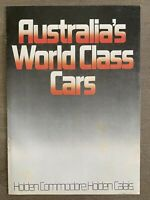 1984 Holden Commodore Calais original Australian sales brochure (8P)