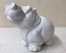 """Bellini Smiling Hippo Figure 4"""" Tall Vintage Italian Italy Mid Century Vintage"""