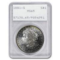 1881-S Morgan Dollar MS-65 PCGS (Old Rattler Holder) - SKU#4544