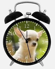 "Cute Chihuahua Alarm Desk Clock 3.75"" Home or Office Decor E410 Nice For Gift"