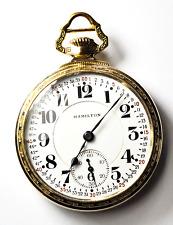 Hamilton Size 16 OF 992 21J DR 5po 10k GF OF LS Pocket Watch GT Montgomery Dial