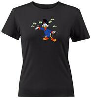 DuckTales Donald Duck Juniors Women Tee T-Shirt Classic Disney Scrooge McDuck