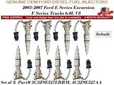 2004-07 Ford F-450 Super Duty 6.0L V8 8/unit Fuel Injectors OEM Ford Diesel