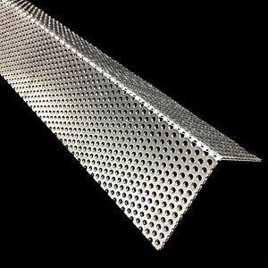 Aluminium Winkel Lochblech RV3-5 Alu 1,5mm dick Eckschutz Kiesfang Zuschnitt Neu