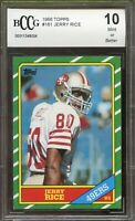 1986 Topps #161 Jerry Rice Rookie Card BGS BCCG 10 Mint+