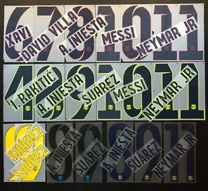 KIT NOME+NUMERO UFFICIALE BARCELONA HOME 2012-2014 / 2014-2015 / 2015-2017 PL SZ