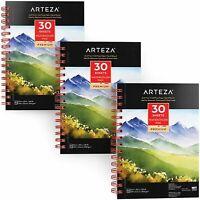 "ARTEZA Watercolor Pad, 5.5"" x 8.5"", 30 sheets, set of 3"