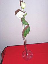 Vase, Mundgeblasen aus Lauscha, 25 cm hoch, klar, mundgeblasen - was besonderes