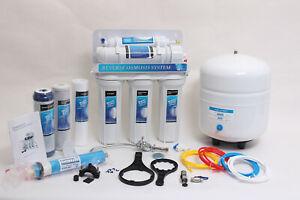 5 Stufige Umkehrosmose Osmose Osmoseanlage RO50 E00 50GPD Wasserfilter NSF 3,2G
