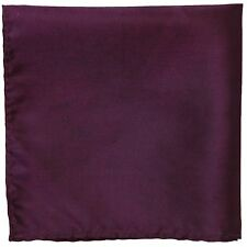 New polyester formal chintz shiny hankie handkerchief pocket square dark purple