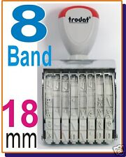 8 band number rubber stamp 18mm ink pad LARGE GREAT BIG 15188 trodat