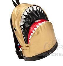 SHARK Backpack LARGE Morn Creations bag PU shiny GOLD