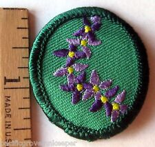 Retired Oval Girl Scout 1989-2011 HAWAIIAN LEI TROOP CREST Polynesian Patch