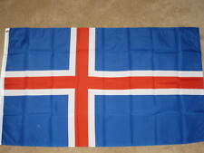 3X5 ICELAND FLAG EUROPEAN FLAGS NEW ICELANDIC F476