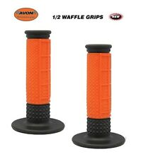 "Avon Grips 1/2 Waffle Motocross Dirtbike Twist Throttle 7/8"" ORANGE MX KAWASAKI"