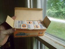 VINTAGE 1940s FULL UNOPENED CARTON OF 10 BOXES OF OSRAM AUTO LIGHT BULBS 40 WATT