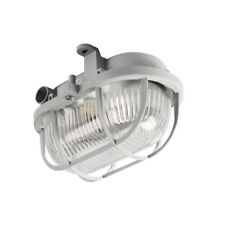 IP54 Kanlux LED E27 Wall Ceiling Mounted Bulkhead Glass Diffuser Wire Protected