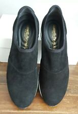 RUSSELL & BROMLEY Ladies Black Suede Stretchout Shoes Size UK 4 EU 37 BNIB