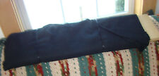 VINTAGE JET BLACK black embroidery stretch twill Fabric heavy Weight