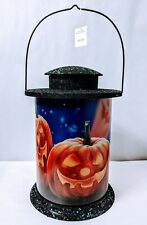 Pumpkin Patch  2303120 B/O Lighted Lantern Halloween Scene Table Decoration
